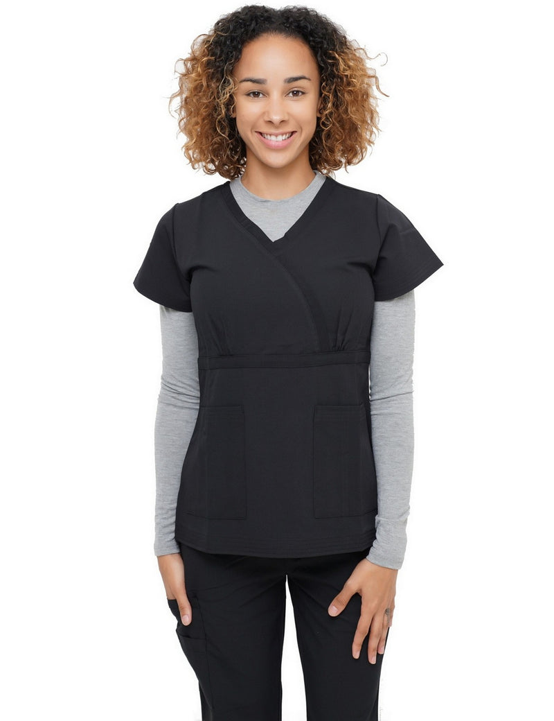 Excel Scrub Top Black