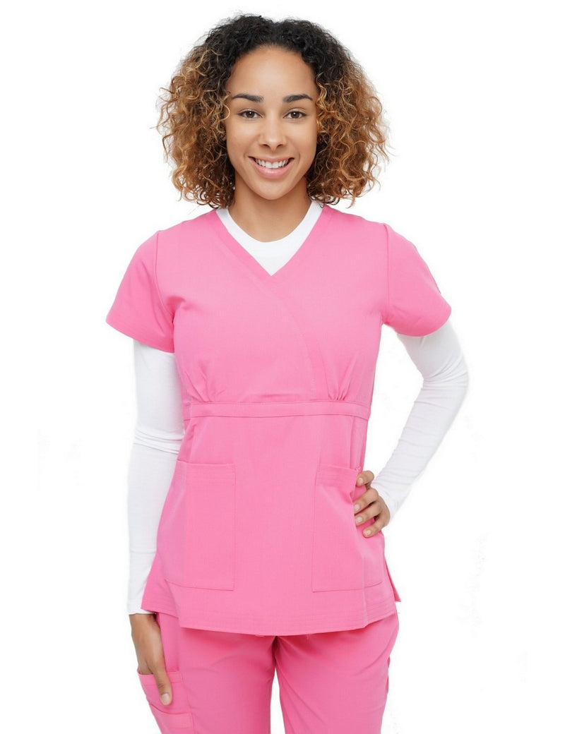 Excel Scrub Top Hot Pink