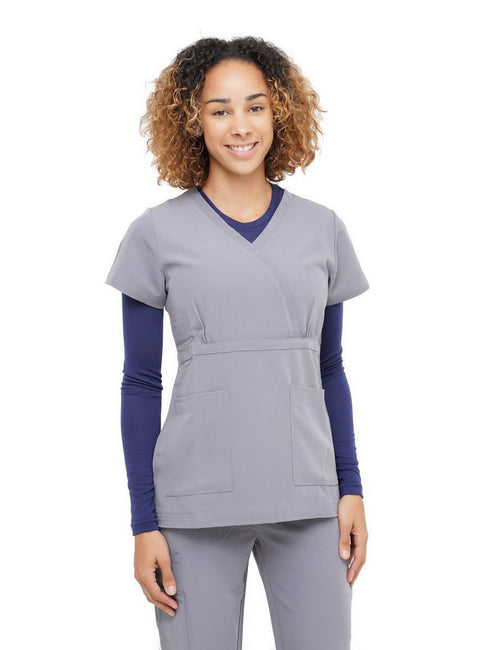 Excel Scrub Top Grey