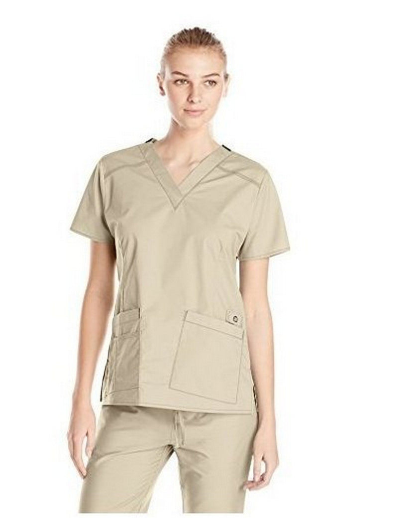 WonderWink Women's Wonderflex Verity Scrub Top Khaki