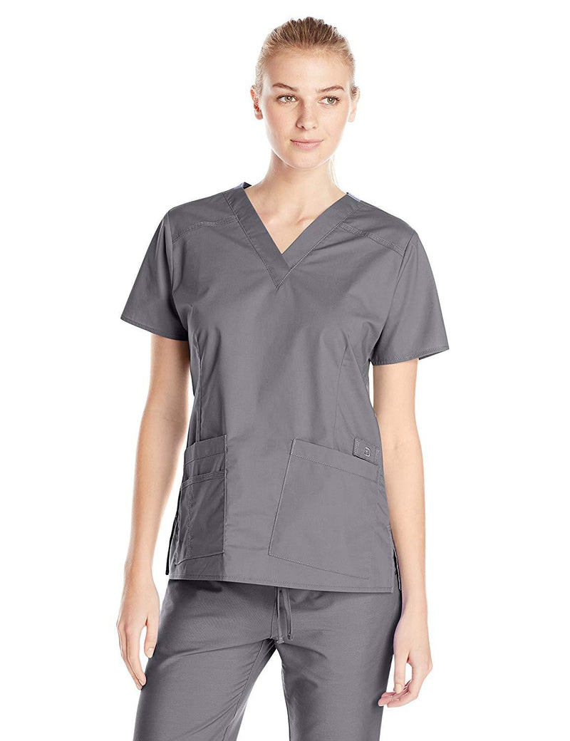 WonderWink Women's Wonderflex Verity Scrub Top Grey