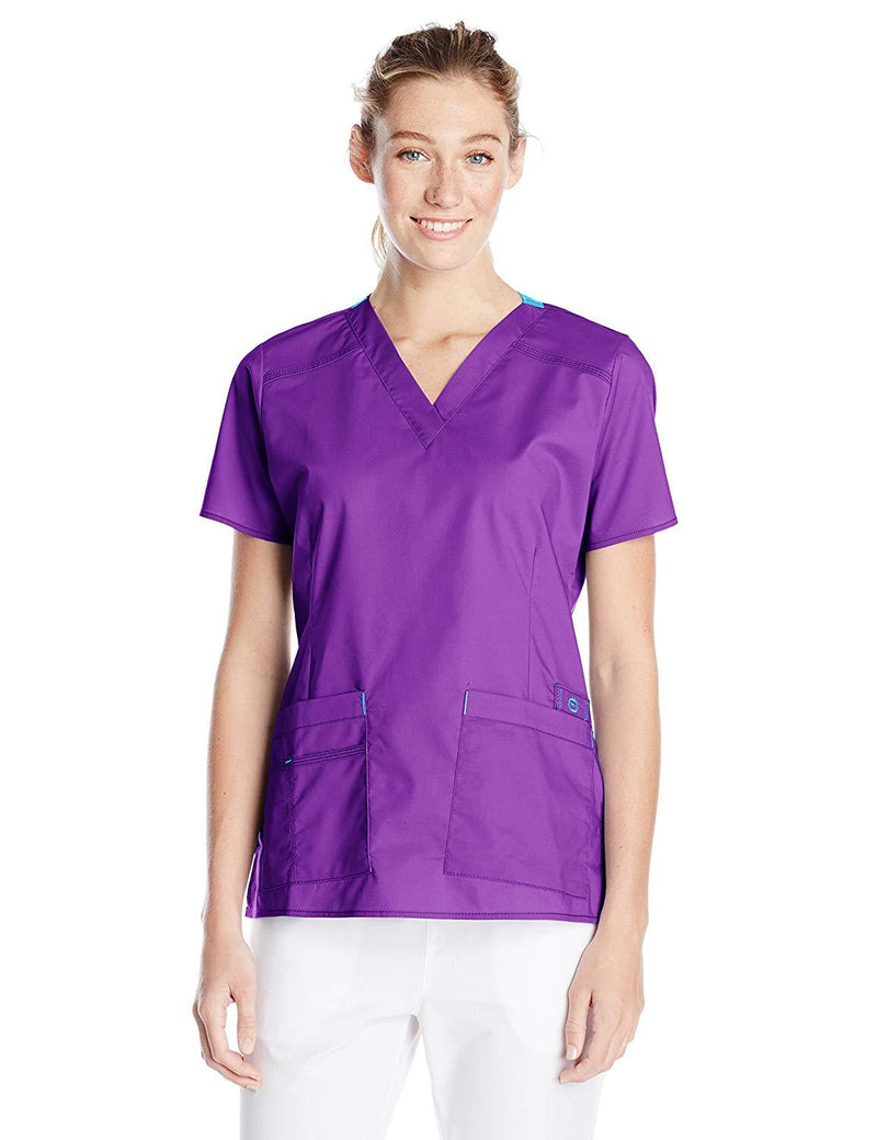 WonderWink Women's Wonderflex Verity Scrub Top Purple