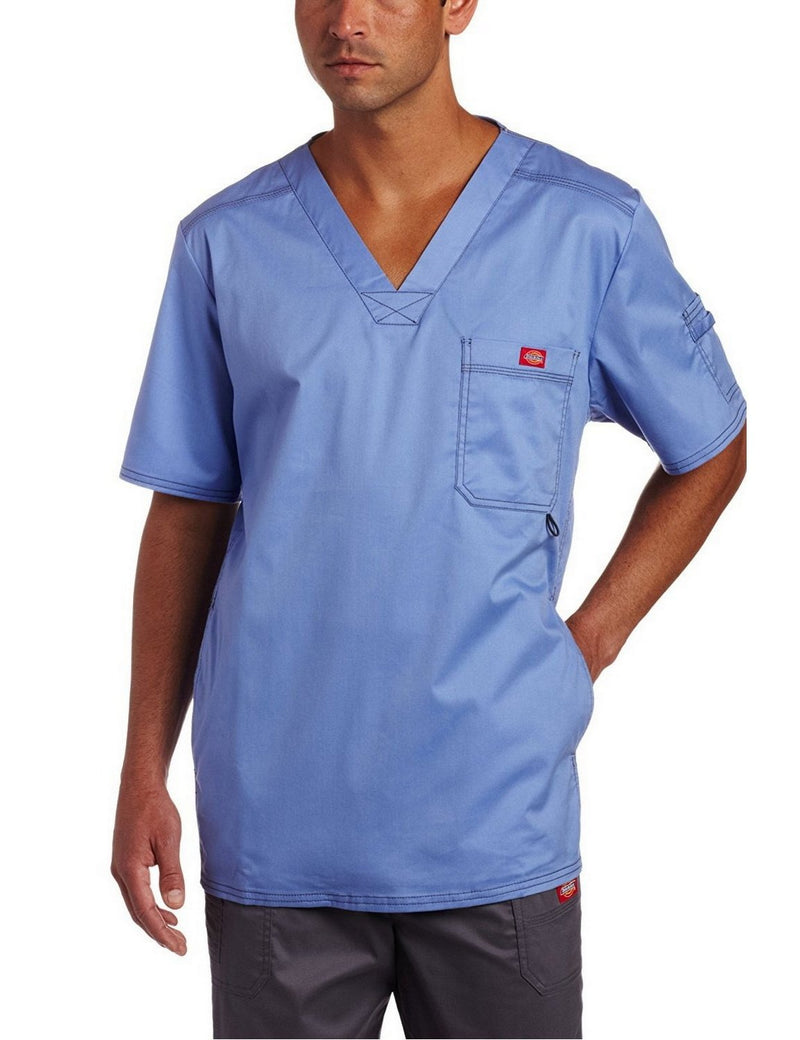 Dickies Generation Flex Men's Youtility Scrub Top Ceil Blue