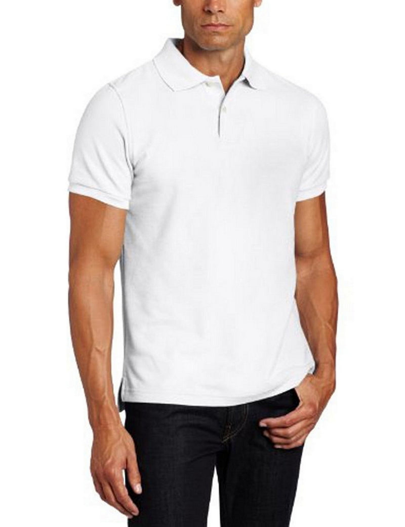Lee Uniforms Men's Modern Fit Short Sleeve Polo Shirt White
