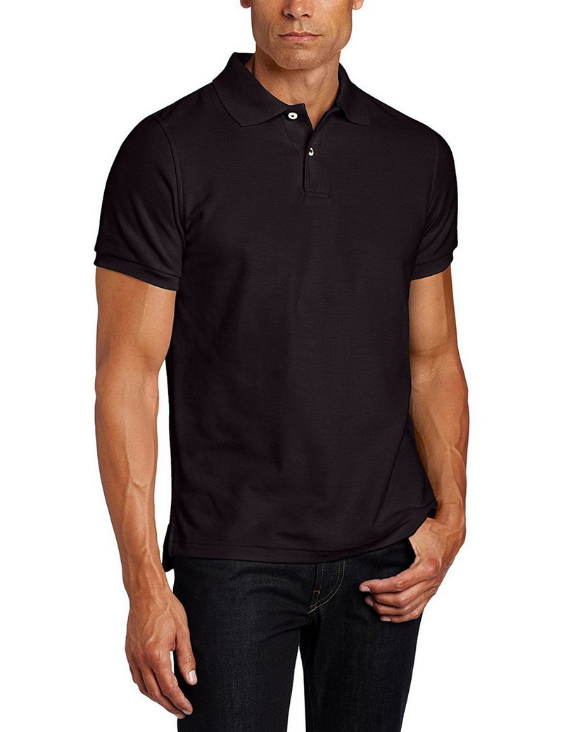 Lee Uniforms Men's Modern Fit Short Sleeve Polo Shirt Black