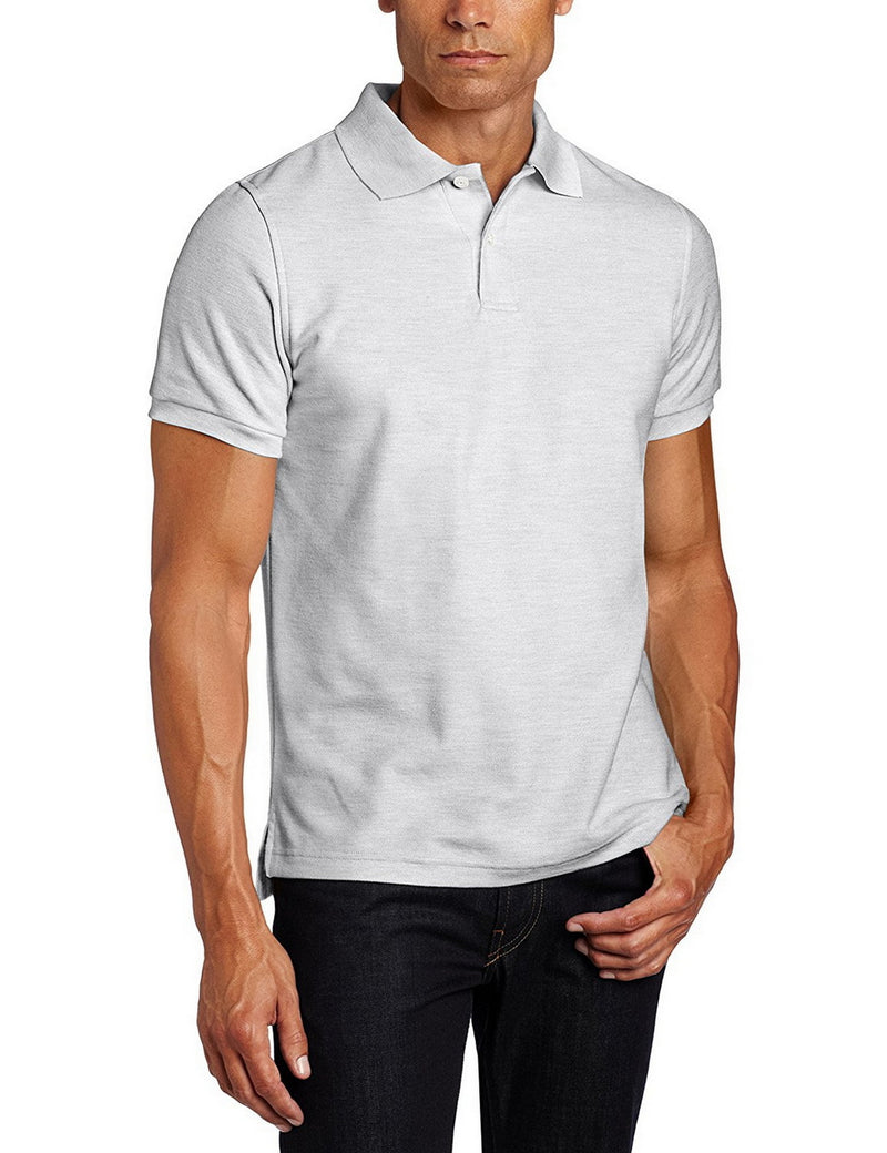 Lee Uniforms Men's Modern Fit Short Sleeve Polo Shirt Grey