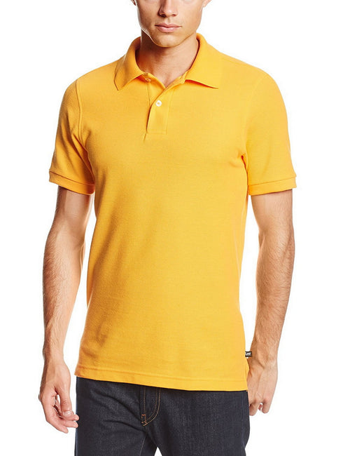 Lee Uniforms Men's Modern Fit Short Sleeve Polo Shirt Gold