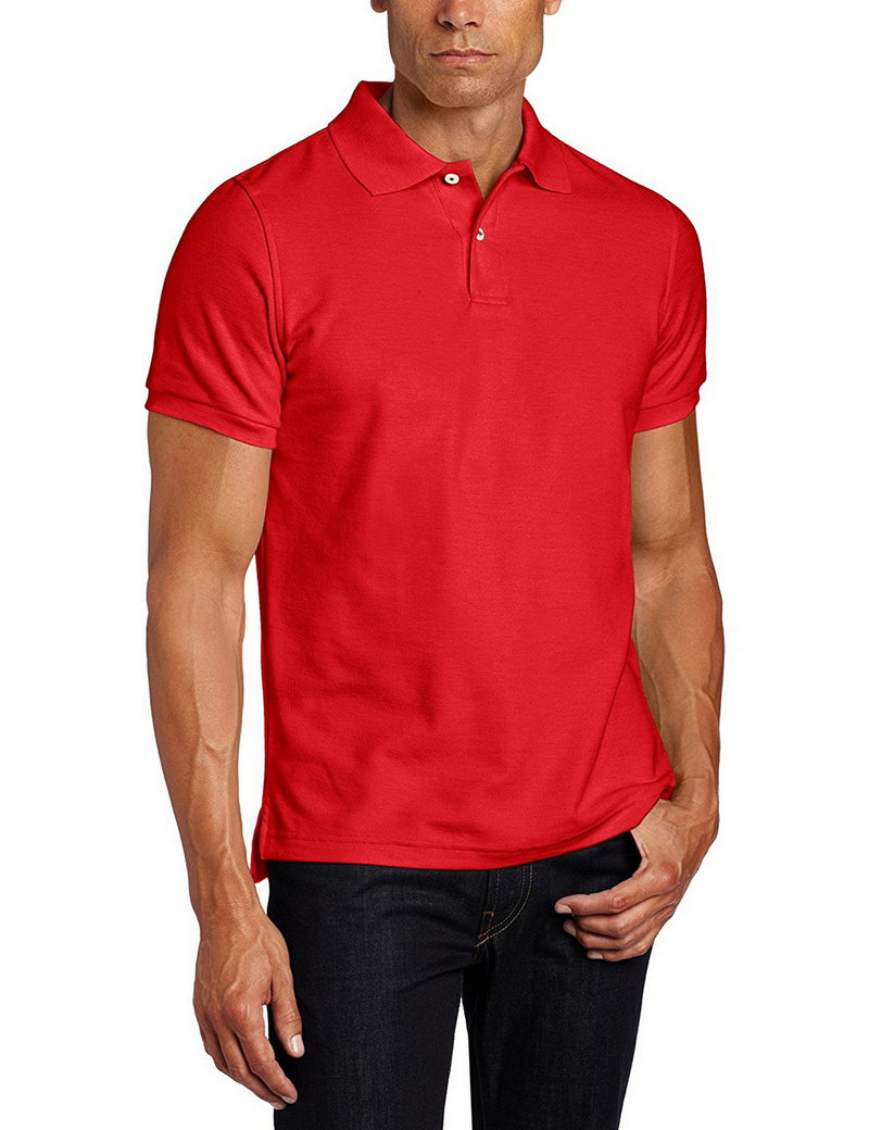 Lee Uniforms Men's Modern Fit Short Sleeve Polo Shirt Red