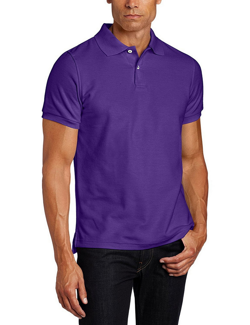 Lee Uniforms Men's Modern Fit Short Sleeve Polo Shirt Purple