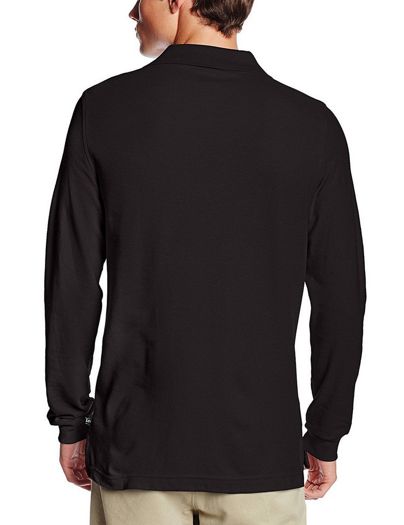 Lee Uniforms Men's Modern Fit Long Sleeve Polo Black
