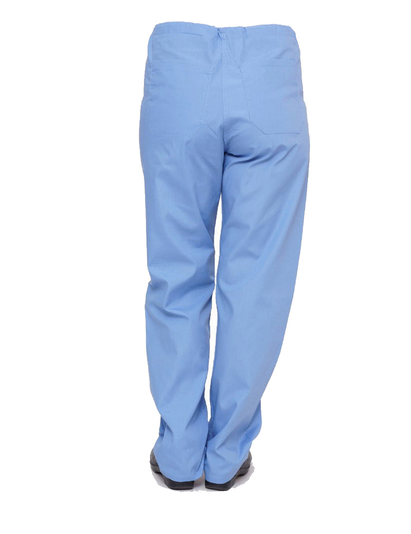 Lizzy-B Drawstring Scrub Pants Light Blue