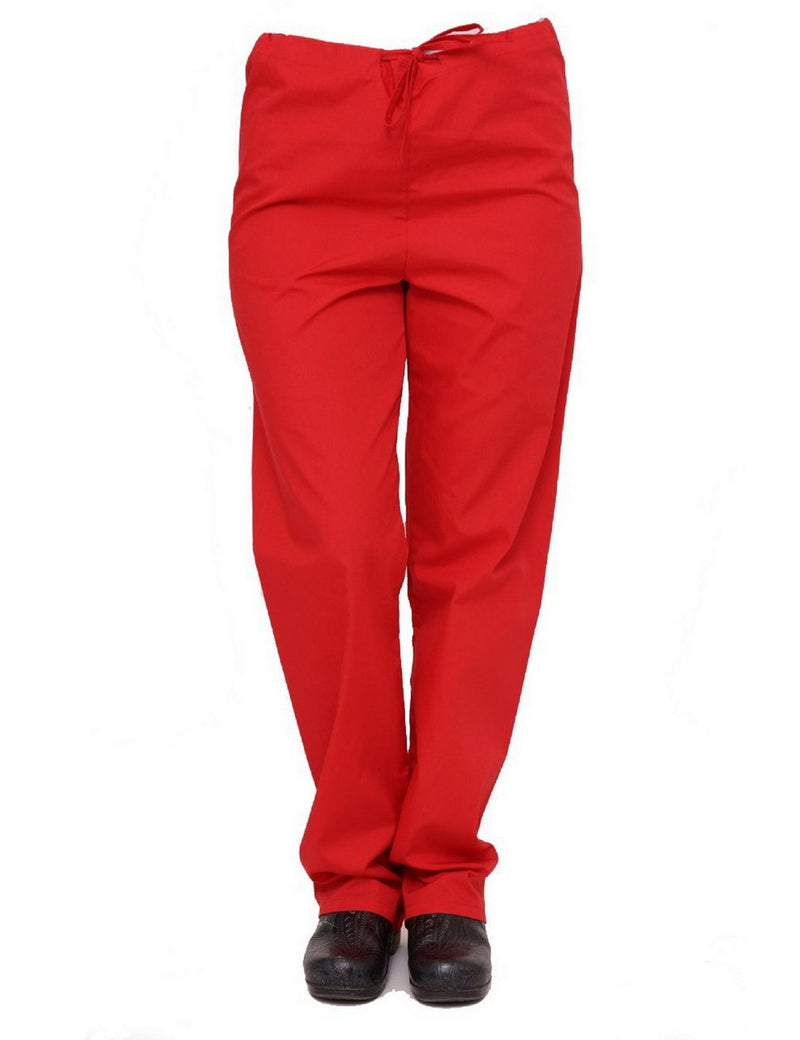Lizzy-B Drawstring Scrub Pants Red