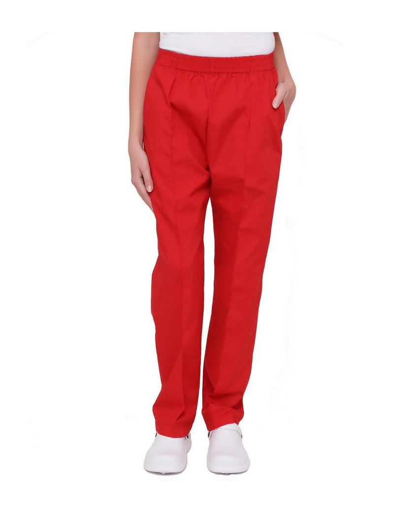 Lizzy-B Elastic Scrub Pants Red