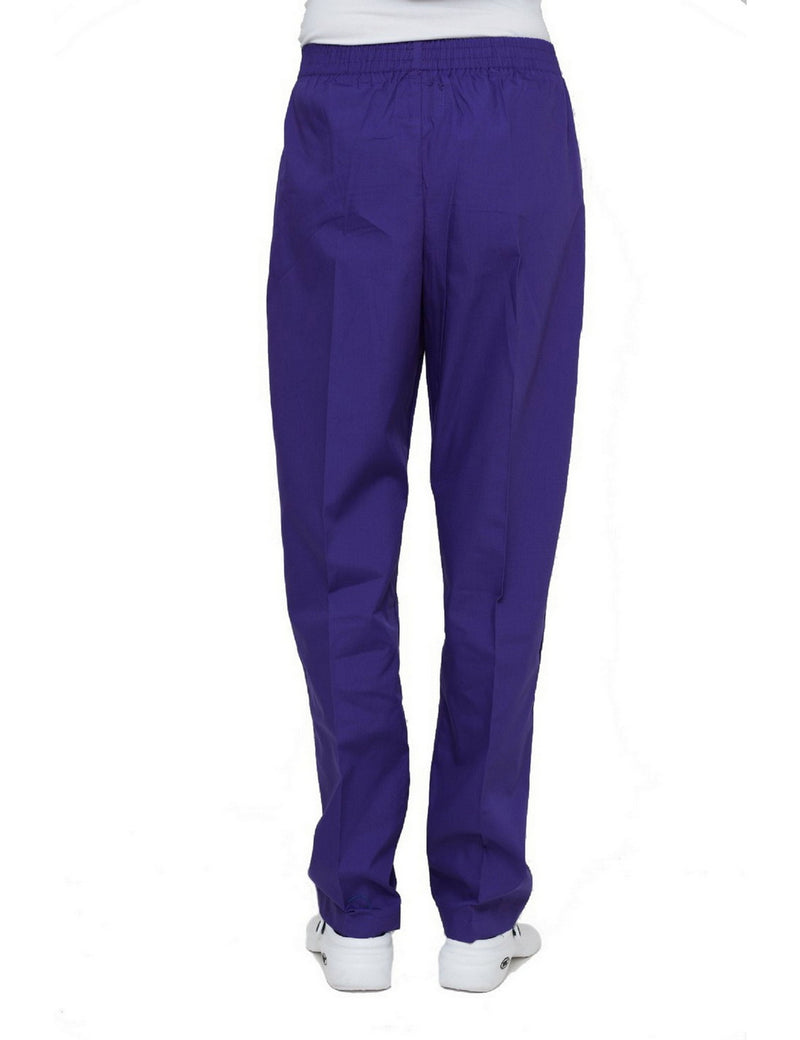 Lizzy-B Elastic Scrub Pants Purple