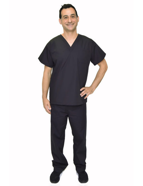 Lizzy-B Men Medical Scrub Set Black