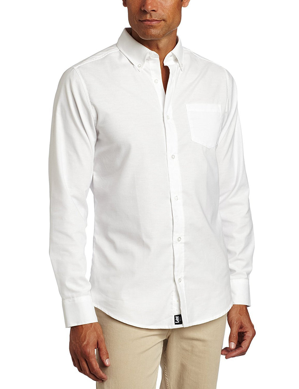 lee-uniforms-men's-long-sleeve-oxford-shirt