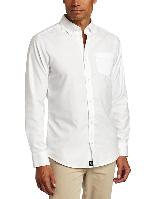 Lee Uniforms Men's Long-Sleeve Oxford Shirt White