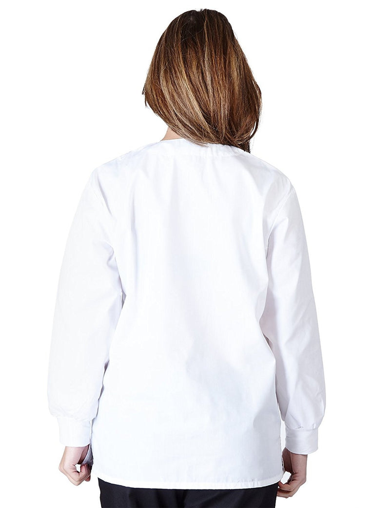 Natural Uniforms Women's Warm Up Jacket (Plus Sizes Available) White