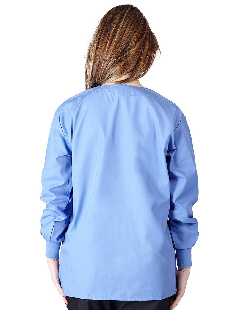 Natural Uniforms Women's Warm Up Jacket (Plus Sizes Available) Ceil Blue