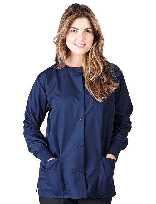 Natural Uniforms Women's Warm Up Jacket (Plus Sizes Available) Navy