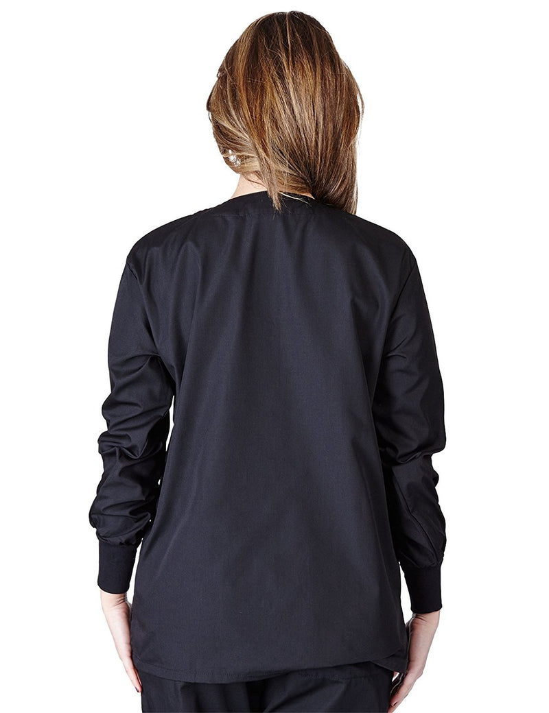 Natural Uniforms Women's Warm Up Jacket (Plus Sizes Available) Black