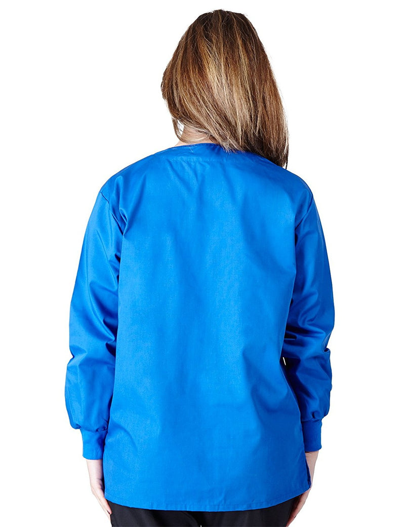 Natural Uniforms Women's Warm Up Jacket (Plus Sizes Available) Royal