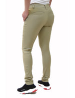 BHSC Uniform Girls' Mid Rise Stretch Super Skinny 5 pants Khaki