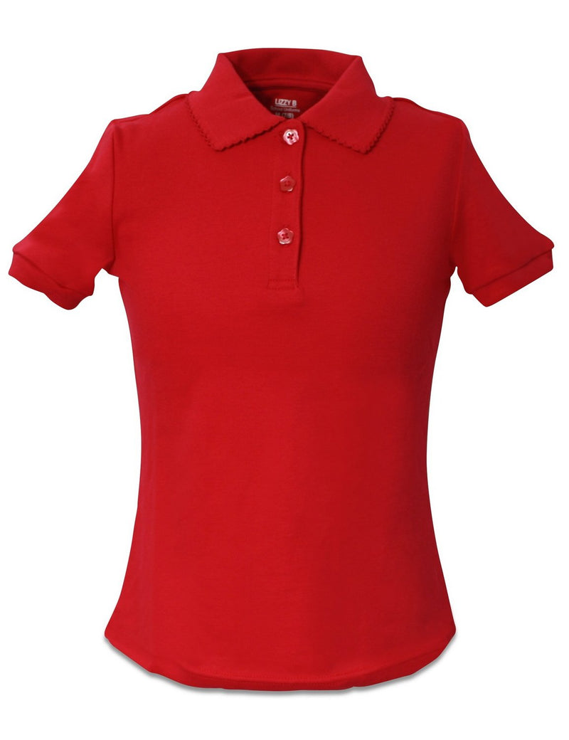 Lizzy-B Girls Polo Red
