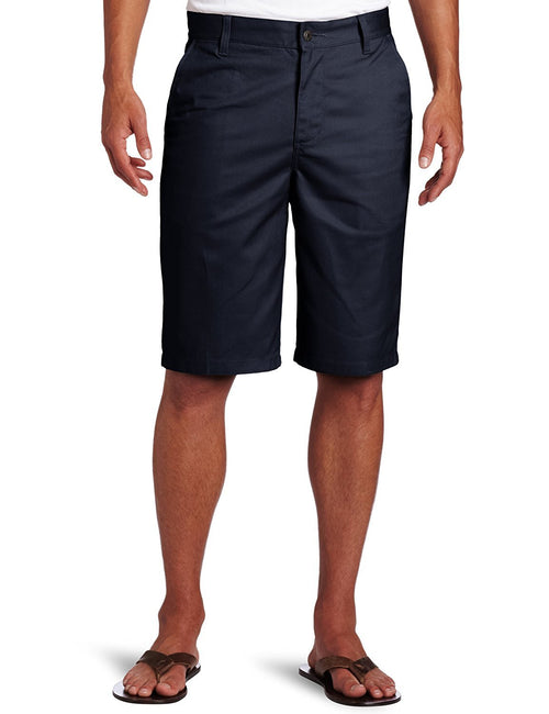 Lee Uniforms Men's Flat-Front Short Navy
