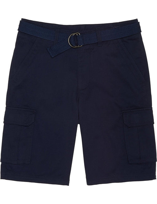 French Toast School Uniform Boys Belted Cargo Shorts Navy
