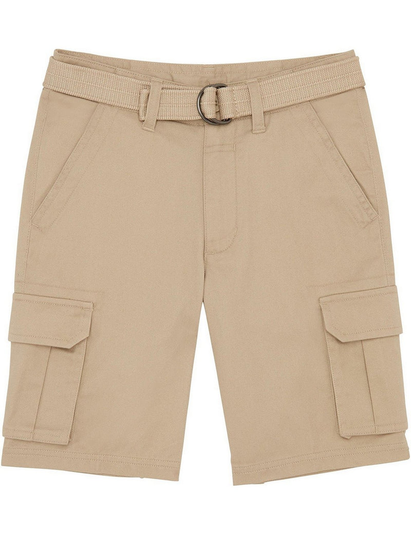 French Toast School Uniform Boys Belted Cargo Shorts Khaki