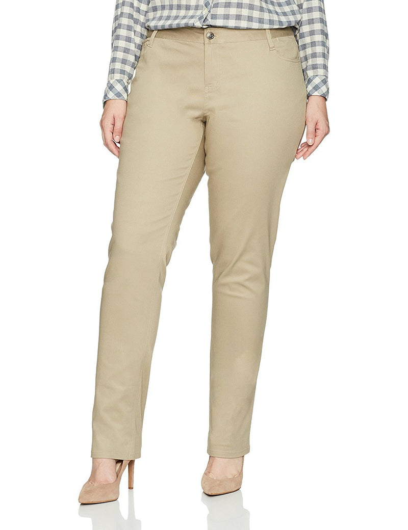 Lee Uniforms Juniors Classic 5 Pocket Skinny Pant Khaki
