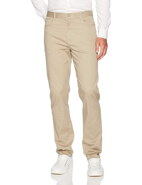 Lee Uniforms Men's Skinny Stretch 5 Pocket Pant Khaki