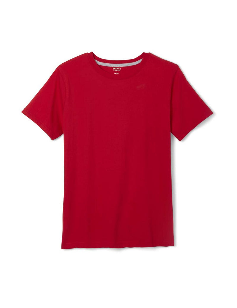 French Toast Boys' Short Sleeve Crewneck Tee  Red
