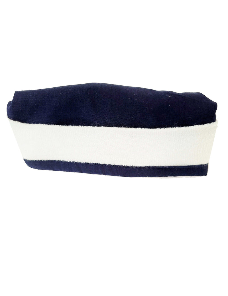 Lizzy-B Adult's Unisex Scrub Hat with Terry Lining - One Size Navy