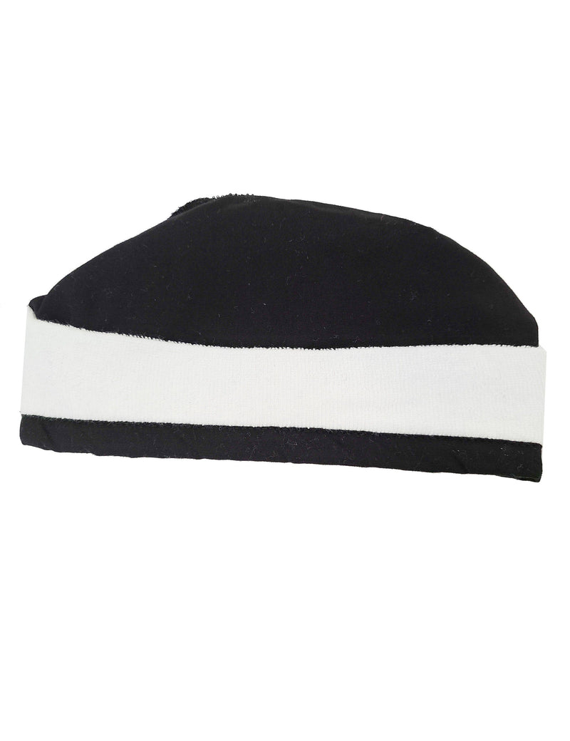 Lizzy-B Adult's Unisex Scrub Hat with Terry Lining - One Size Black