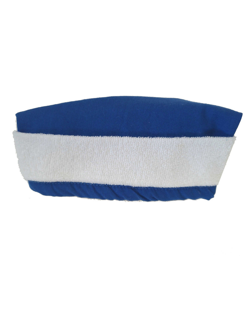 Lizzy-B Adult's Unisex Scrub Hat with Terry Lining - One Size Royal