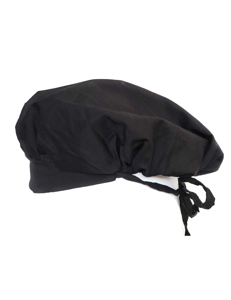 Lizzy-B Adult's Unisex Scrub Bouffant Hat - One Size Black