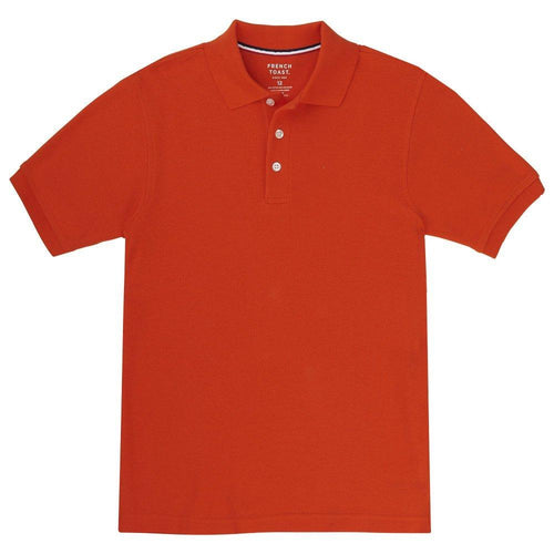 French Toast Boys' Short Sleeve Pique Polo Orange