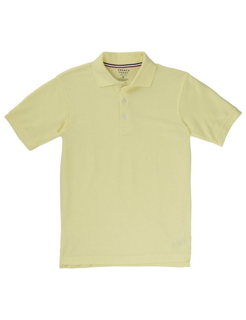 French Toast Boys' Short Sleeve Pique Polo Yellow