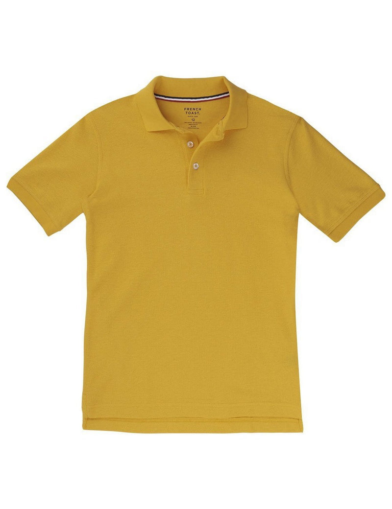 French Toast Boys' Short Sleeve Pique Polo Gold