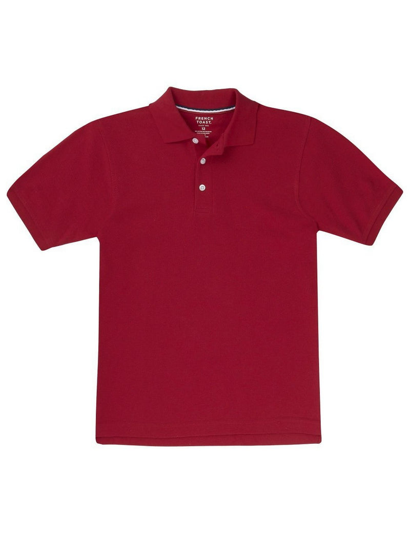 French Toast Boys' Short Sleeve Pique Polo Red