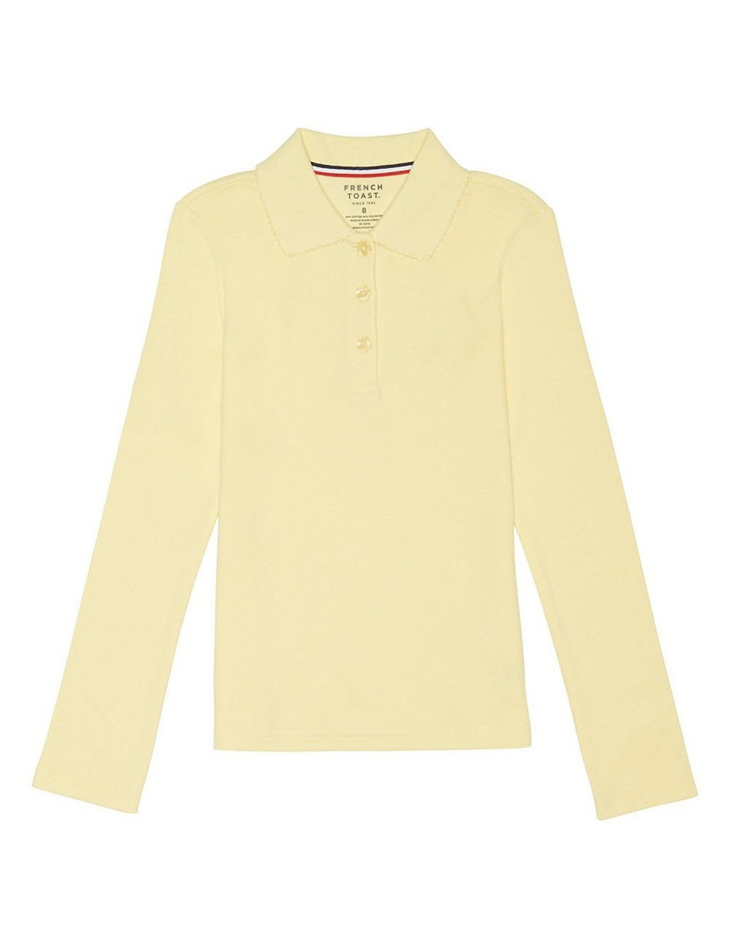 french-toast-girls'-long-sleeve-interlock-polo-with-picot-collar