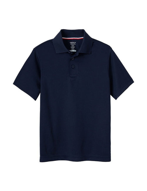 French Toast Boys' Short Sleeve Sport Polo Navy