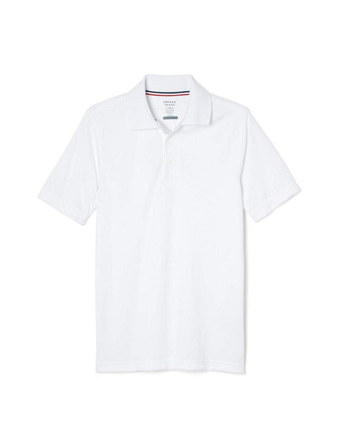 French Toast Men's Moisture Wicking Stretch Sport Polo Shirt White