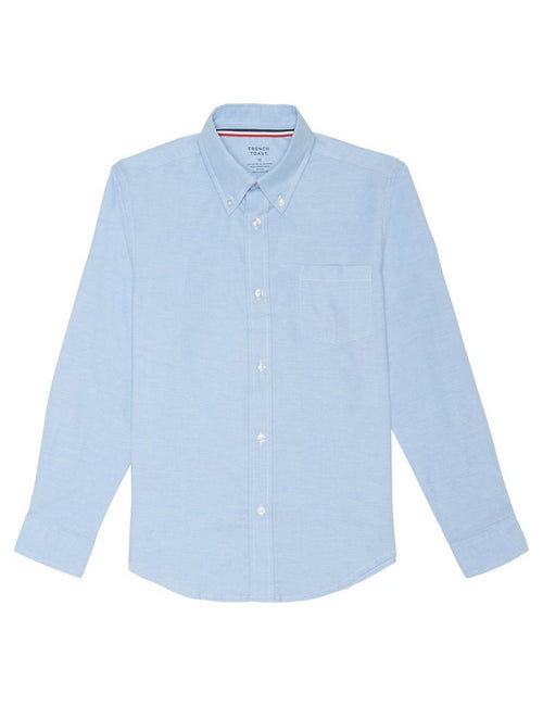 French Toast Boys' Long Sleeve Oxford Dress Shirt Light Blue