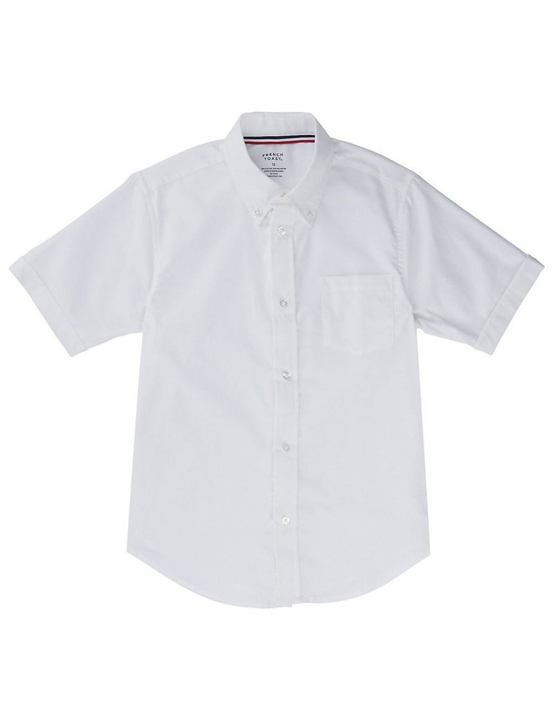 French Toast Boys' Short Sleeve Oxford Dress Shirt White