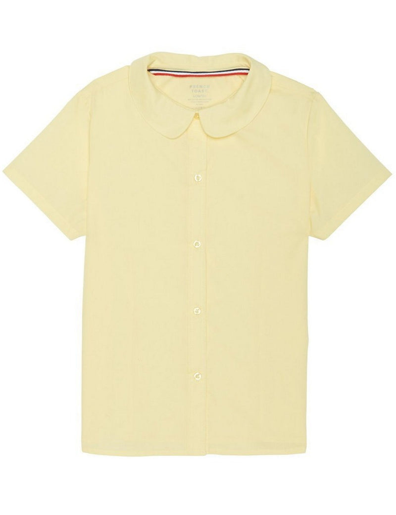 French Toast Girls' Short Sleeve Peter Pan Collar Blouse Yellow