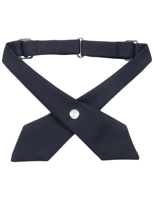 French Toast Girls' Adjustable Cross Tie Solid Navy
