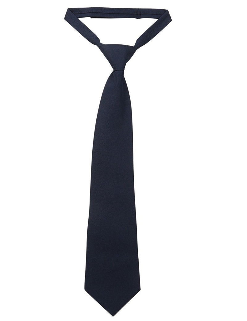 French Toast Boys' Adjustable Solid Tie Navy Blue